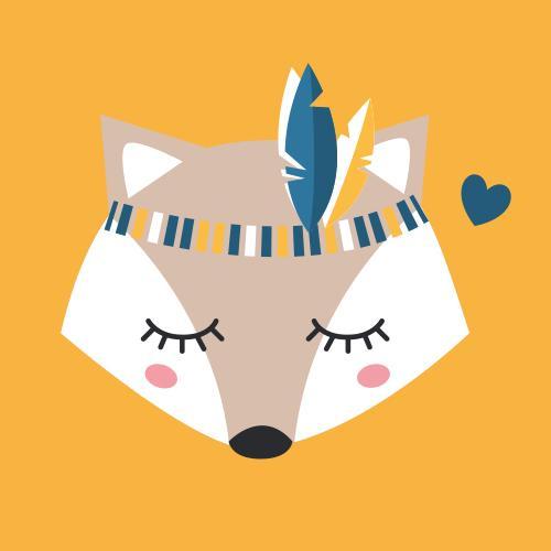 Affiche renard indien